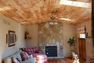 Hickory Ceiling