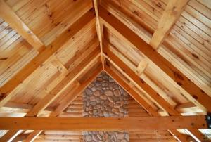 Knotty Pine Beams