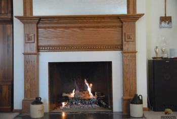 Custom Oak Mantle