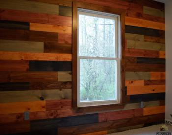 Multicolored Shiplap Wall Design